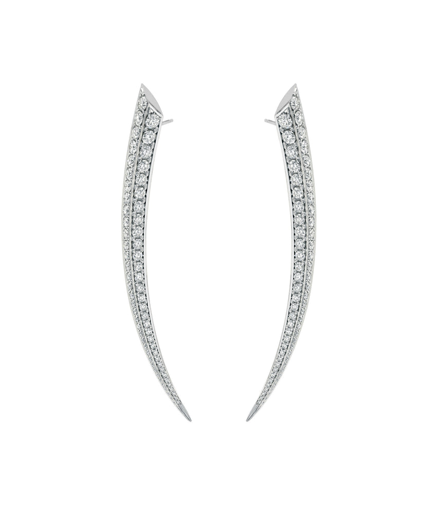 Shaun Leane 18ct White Gold 3.5 Carat Diamond Sabre Earrings