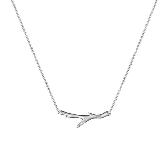 Shaun Leane Cherry Blossom Sterling Silver Diamond Branch Necklace, CB011.SSWHNOS.