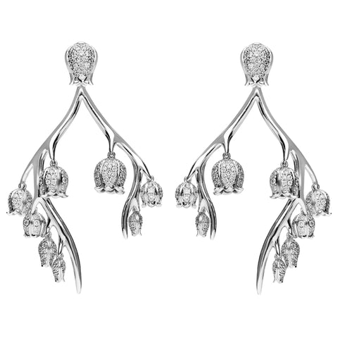Shaun Leane Maybell Branch 18ct White Gold 2.65ct Diamond Earrings