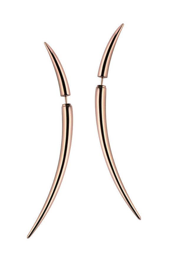 Shaun Leane Quill Rose Gold Vermeil Large Earrings, QU005.RVNAEOS.