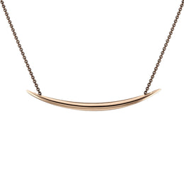 Shaun Leane Quill Sterling Silver Rose Gold Vermeil Necklace. QU006.RVNANOS.