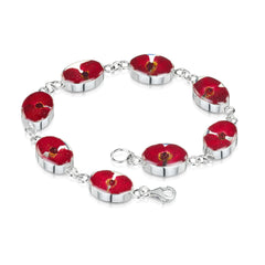 Shrieking Violet Sterling Silver Poppy Oval Bracelet