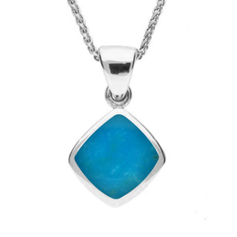 Sterling Silver Turquoise Dinky Cushion Necklace