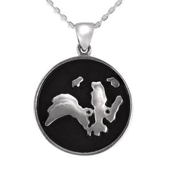 Sterling Silver Wild Life Trust Round Pendant