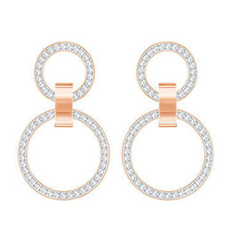 Swarovski Chandelier Hollow Rose Gold White Crystal Earrings 5349334
