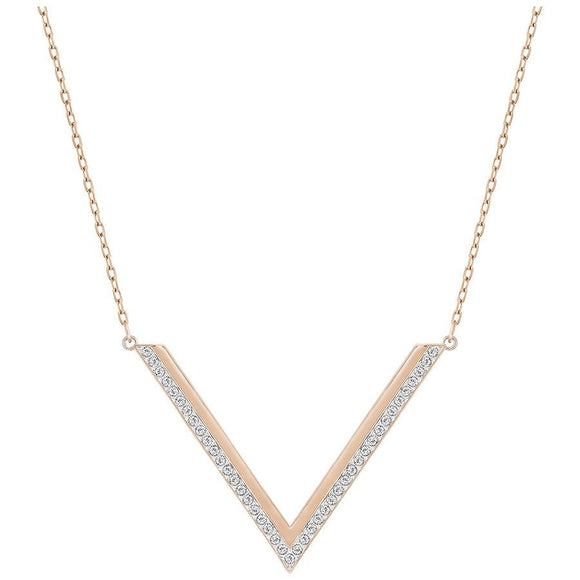 Swarovski Crystal Delta Rose Gold Necklace 5140123
