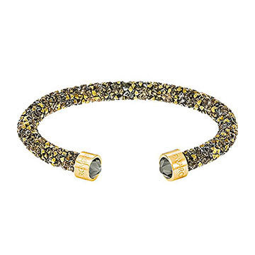 Swarovski Crystaldust Yellow Gold Multi-Coloured Bangle Medium