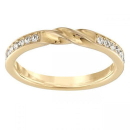Swarovski Curly Yellow Gold Clear Crystal Ring D 5139664
