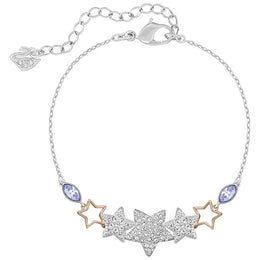 Swarovski Duo Blue And Clear Crystal Start Bracelet 5179189