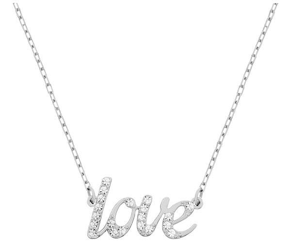 Swarovski Rhodium White Crystal Emotion Necklace D