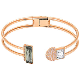 Swarovski Future Rose Gold Grey And Clear Crystal Bangle 5217137
