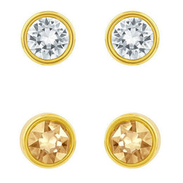 Swarovski Harley Golden And Clear Earring Set 1092467