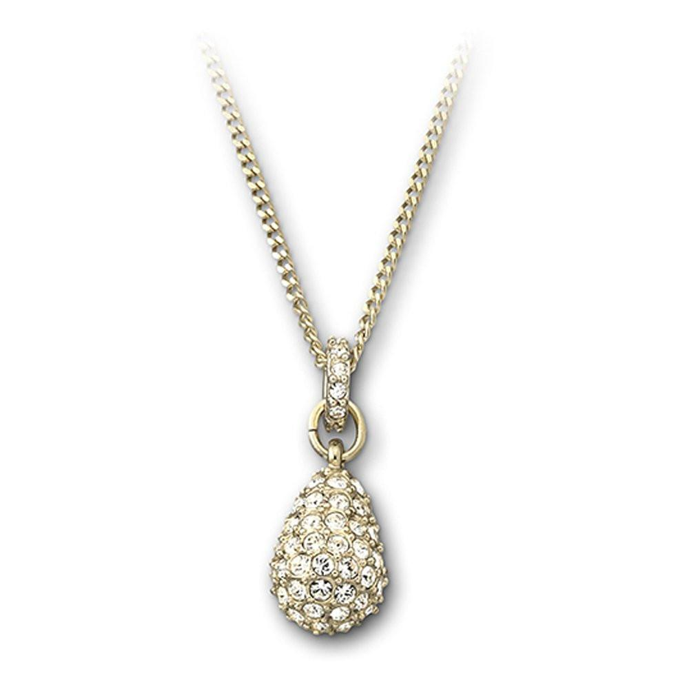 Swarovski Yellow Gold White Crystal Heloise Necklace D