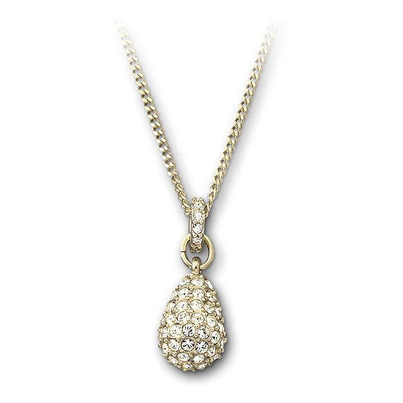 Swarovski Heloise Yellow Gold White Crystal Necklace 1023993