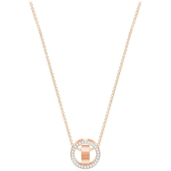 Swarovski Hollow Rose Gold White Crystal Pendant Small 5289495