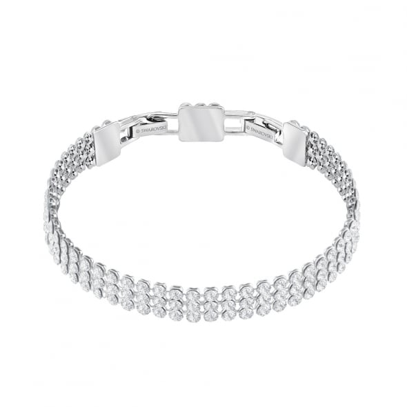 Swarovski Palladium White Crystal Fit Bracelet