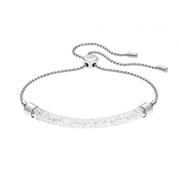 Swarovski Rhodium White Crystal Long Beach Bracelet