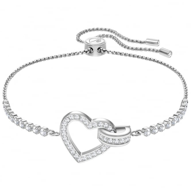 Swarovski Rhodium White Crystal Lovely Bracelet