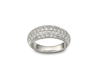 Swarovski Maeva Rhodium Plated White Crystal Ring D - Size 52, 1082412.