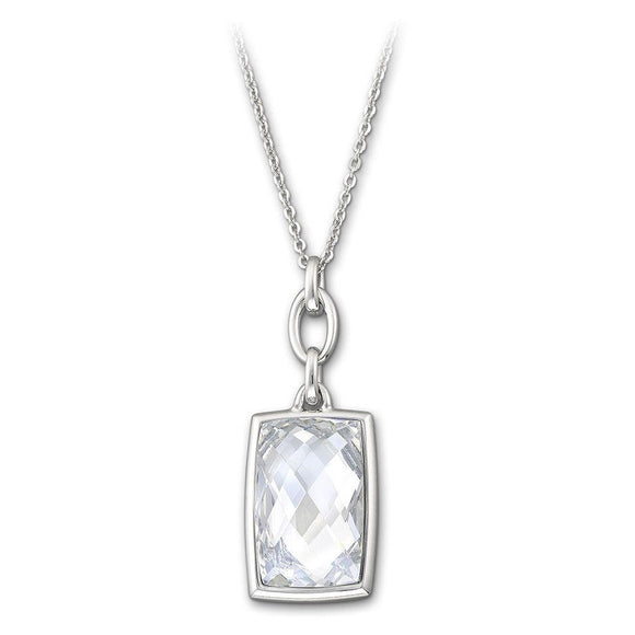 Swarovski Rhodium White Crystal Nirvana Necklace Small 1144358