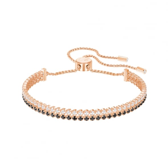 Swarovski Rose Gold Multi Crystal Double Bracelet
