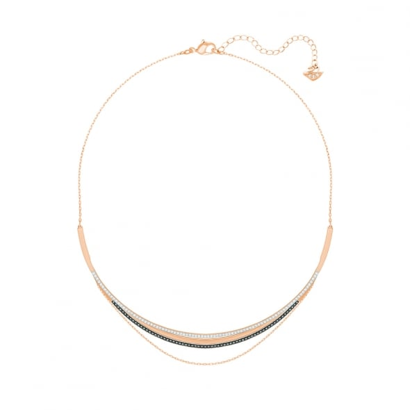 Swarovski Rose Gold Multi Crystal Hero Layered Necklace D