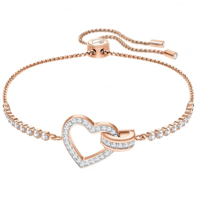 Swarovski Rose Gold White Crystal Lovely Bracelet