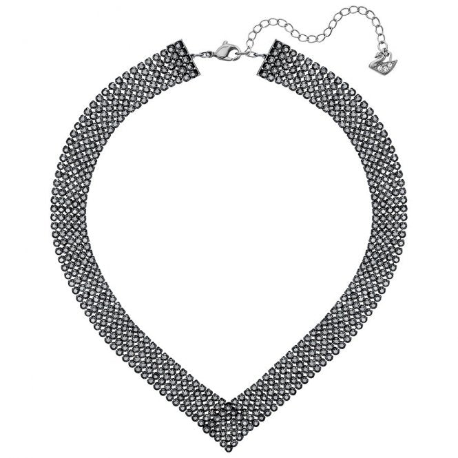 Swarovski Ruthenium Black Crystal Fit Necklace