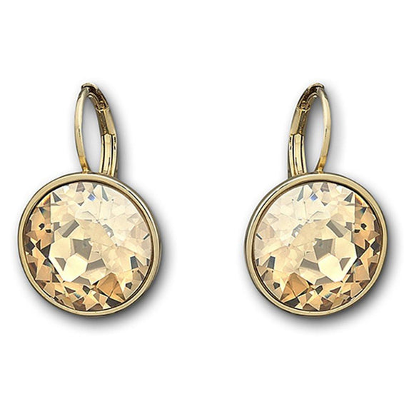 Swarovski Yellow Gold Golden Crystal Bella Earrings 901640