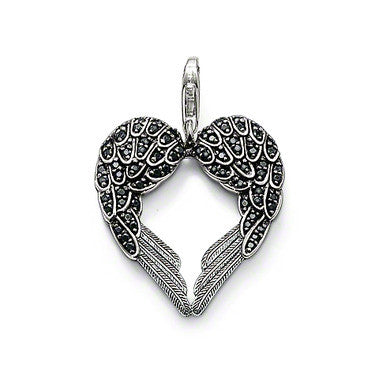 Thomas Sabo Pendant Silver Black Zirconia Winged Heart D