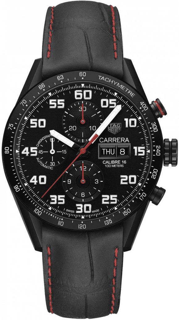 TAG Heuer Watch Carrera Day Date Automatic Chronograph CV2A83.FC6393