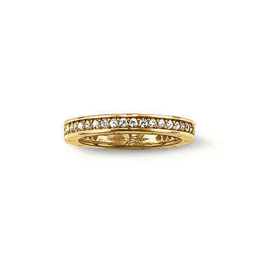 Thomas Sabo Ring Glam & Soul 18ct Gold Plated Eternity Style D