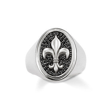 Thomas Sabo Ring Rebal At Heart Silver Fleur De Lis Signet