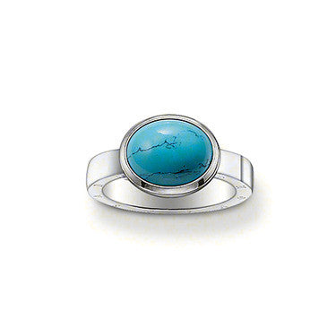 Thomas Sabo Ring Sterling Silver & Turqouise D