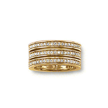 Thomas Sabo Ring Triple Row 18ct Yellow Gold D