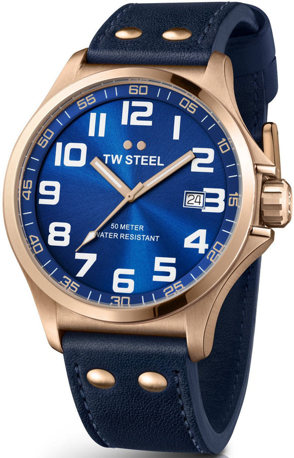 TW Steel Watch Pilot Rose Gold PVD 48mm TW405