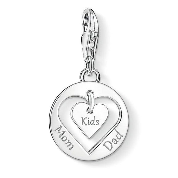 Thomas Sabo Charm Club Heart Mom Dad And Kids Charm 1454-001-21