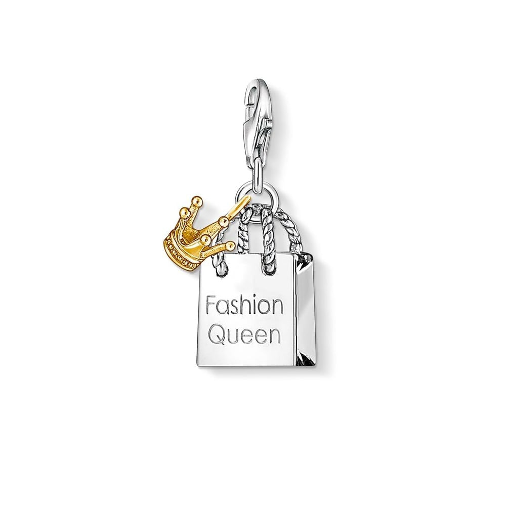 Thomas Sabo Charm Club Sterling Silver Yellow Gold Charm D
