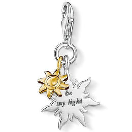 Thomas Sabo Charm Club Sterling Silver 18ct Yellow Gold Sun Be My Light Charm D 1347-413-12