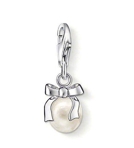 Thomas Sabo Charm Club Sterling Silver Bow With Pearl Charm