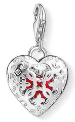 Thomas Sabo Charm Club Sterling Silver Heart Medallion Charm D