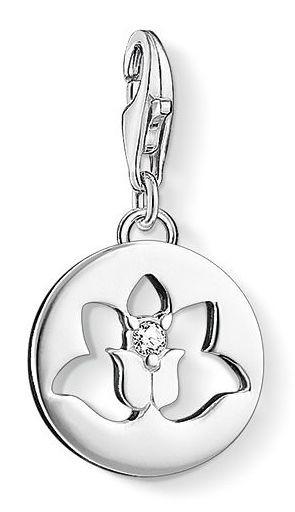 Thomas Sabo Charm Club Sterling Silver Lotus Flower Charm D