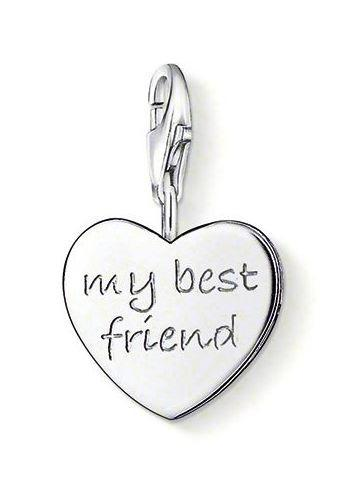 Thomas Sabo Charm Club Sterling Silver My Best Friend Charm