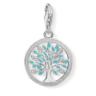 Thomas Sabo Charm Club Sterling Silver Enamel Tree Of Love Charm, 1469-041-17.