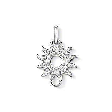 Thomas Sabo Charm Club Sterling Silver White Zirconia Sun Charm Carrier D