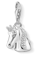 Thomas Sabo Charm Club Sterling Silver White Zirconia Unicorn Charm D