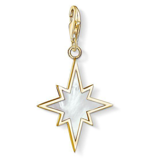 Thomas Sabo Charm Club Yellow Gold Mother Of Pearl Star Pendant