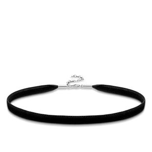 Thomas Sabo Glam And Soul Sterling Silver Black Choker Necklace