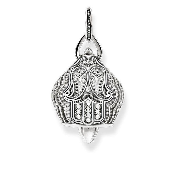 Thomas Sabo Glam And Soul Paisley Design Little Bell Sterling Silver Pendant D PE735-637-12