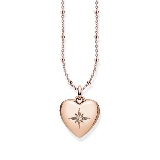Thomas Sabo Glam And Soul Rose Gold Diamond Heart Locket